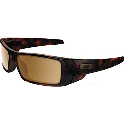 Oakley Men's Gascan Rectangular Sunglasses, Matte Brown Tortoise w/Tungsten Iridium/Orange, 60 - The Spot Eyewear