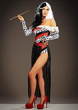 Disfraz de muñeca dálmata Estilo Cruella de vil para Mujer Medium ...