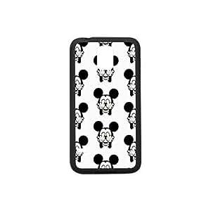 Slim Fit TPU + PC Bumper Black&White Case For Samsung Galaxy S5 Stylus Mickey