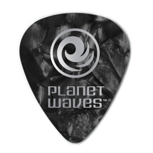 Planet Waves Black Pearl Celluloid Guitar Picks, 10 pack, Light -