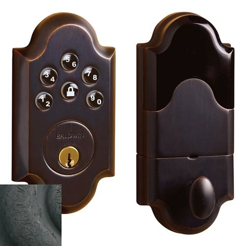 (Baldwin Hardware 8252.402.AC3 Boulder Z-Wave Electronic Deadbolt - Distressed Oil-Rubbed Bronze)