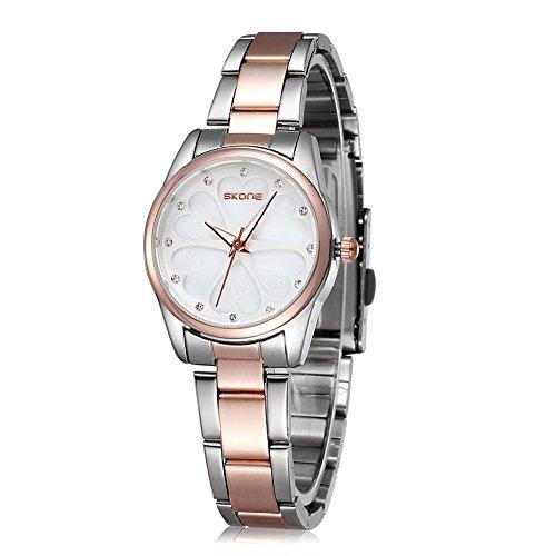 Womens Watch Rose Gold Heart Rhinestone Dial Watches Women Dress Watch Fashion Party Quartz Wrist Watches