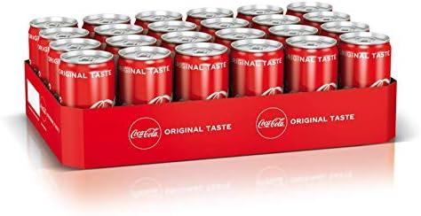 24 x pequeñas latas Coca-Cola Classic 0.25L: Amazon.es ...