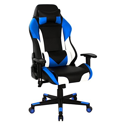 41RpI6fUqBL - HOMEFUN-Gaming-Chair-Ergonomic-High-back-Swivel-Racing-Computer-Chair-Executive-Office-Memory-Foam-with-Headrest-and-Lumbar-Support