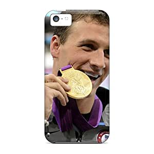 Durable Case For The Iphone 5c- Eco-friendly Retail Packaging(ryan Lochte With Gold Medal Wallpaper) by lolosakes