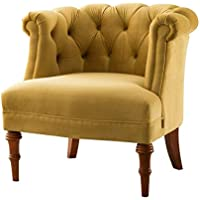 Jennifer Taylor 2483-959 Katherine Tufted Accent Chair, Large, Gold