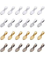 200pcs Spoon DIY Oval Glue on Bails Small Pendant Bails Jewelry Bails For Pendant Making Scrabble Or Glass Cabochon Tiles Pendants 13.9mmx5mm