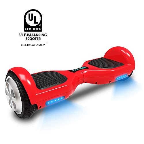 VEEKO Hoverboard UL2272 Certified Led Blue Lights Water Resistant 6.5
