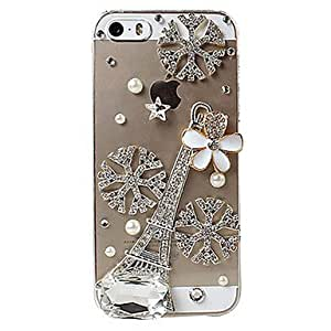 LZXTower & Flower Design Back Case for iPhone 4/4S