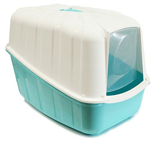 BPS (R) Bandeja Sanitaria Plástica Cerrada Gran Tamaño con Pala Color Azul y Blanco 54* 39* 40cm BPS-4161-A