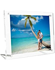 Acrylic Picture Frame Clear Double Sided Transparent Free Standing Acrylic Photo Frames