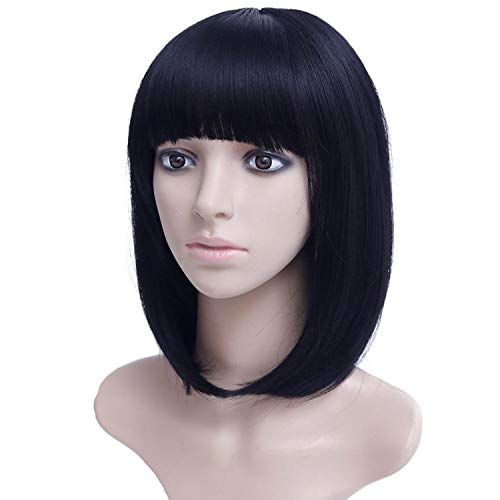 (14'' Bob Wig Short Synthetic Wigs For Women Heat Resistant Straight Hair For Women,#5,14inches)