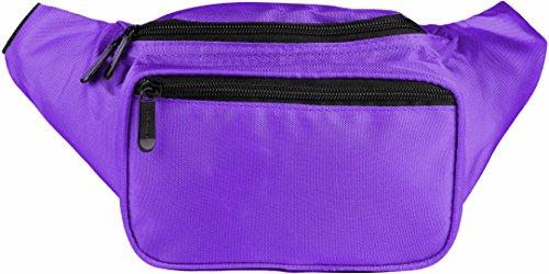 SoJourner Purple Fanny Pack - Festival Packs for men, women   Cute Waist Bag Fashion Belt Bags