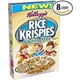 Kellogg's Rice Krispies Gluten Free Cereal Whole Grain Brown Rice Boxes 12 OZ (Pack of 8) (Discontinued By Manufacturer)