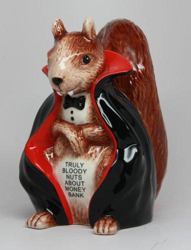 6 Inch Ceramic Vampire Squirrel Savings Piggy/Coin/Money Bank