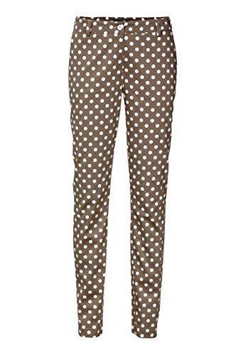 Pantalones de Tela De Algodón Estilo Chinos Mujer de Best Connections Natural