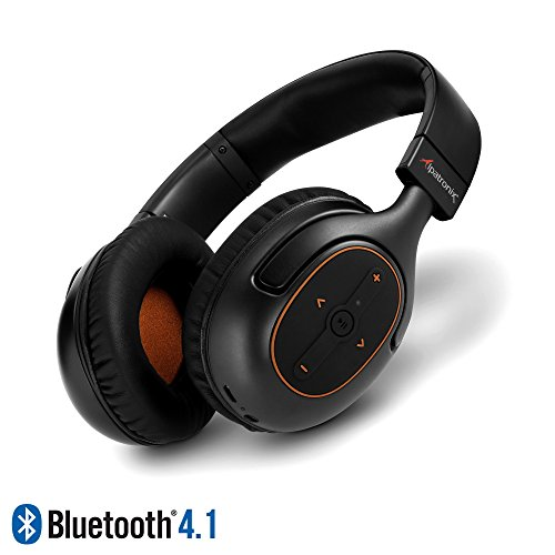 Bluetooth Headphones, Alpatronix HX101 Universal HD Noise Isolating Wireless Stereo Headset with Built-in Mic, Volume/Playback Controls, AptX, CVC 6.0, BT 4.1 [30+ Hrs. of Playback Time] – Black