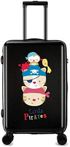 Color : Black GaoMiTA Universal Wheel Trolley case Luggage Small Fresh 24 inch Suitcase