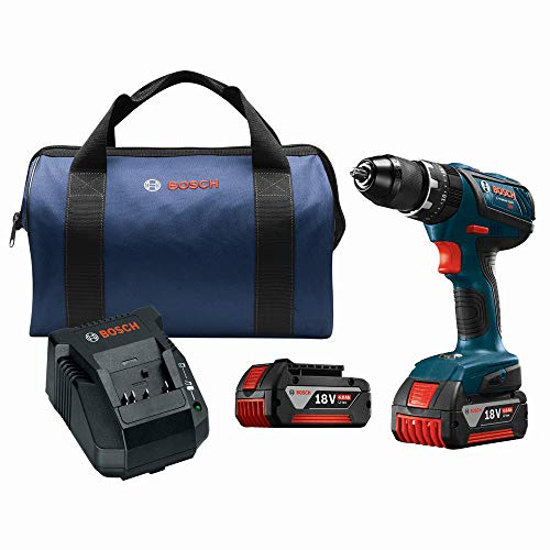 Bosch HDS181A-01-RT 18V 4.0 Ah Cordless Lithium-Ion 1/2 in. Hammer Drill Driver Kit (Certified Refurbished)