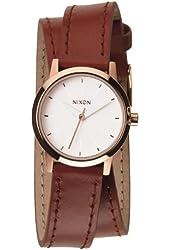 Nixon A4031233 Women's The Kenzi Wrap White Dial Brown Leather Strap Watch