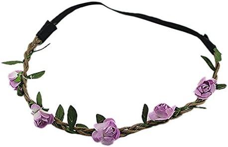 5xElegant Haarband Stirnband Blumen Kopfschmuck Haareif Hochzeit Kopfband Hippie