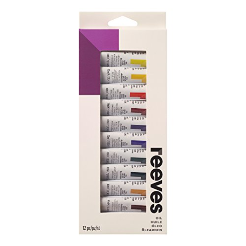 Reeves Oil Color Paint 10ml Tubes, Set of 12, Colour