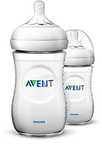 (Philips Avent Natural Baby Bottle, Clear, 9oz, 2pk, SCF013/27)