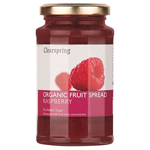 Clearspring Organic Raspberry Fruit Spread (290g) - Pack of 6 by Clearspring