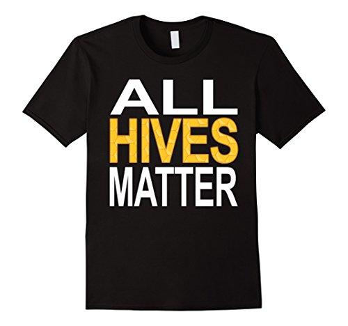 Male Bee Costume - Mens Beekeeper T-Shirt - All Hives Matter Shirt Beekeeping Shirt XL Black