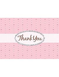 Pink Passion Glitter Thank You Cards BOBEBE Online Baby Store From New York to Miami and Los Angeles
