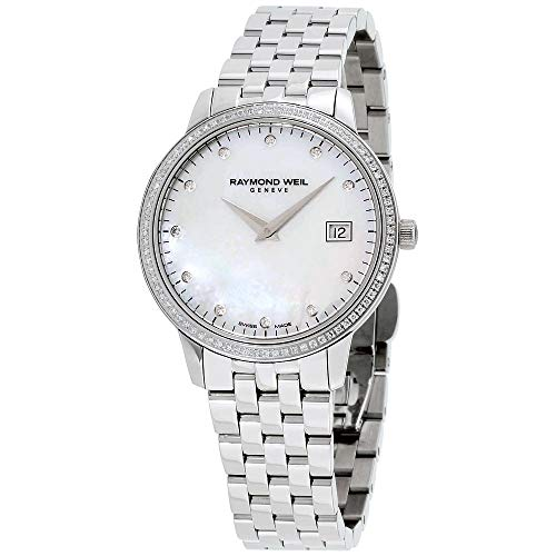 Raymond Weil Women's Toccata Quartz Watch with Stainless-Steel Strap, Silver, 20 (Model: ()
