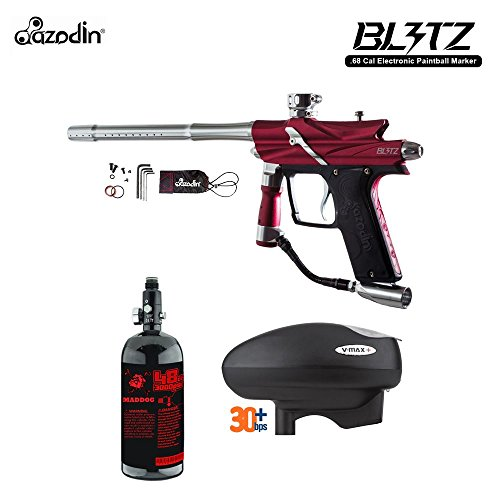 Azodin Blitz 3 HPA Paintball Gun Package - - Paintball Hopper Red