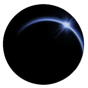 alfombrilla de ratón Eclipse solar en color azul - ronda - 20cm