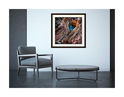 Amanti Art Spa Pool, Hamersley Gorge' by Ignacio Palacios Framed Art Print, 32 x 32'' by Amanti Art (Image #3)