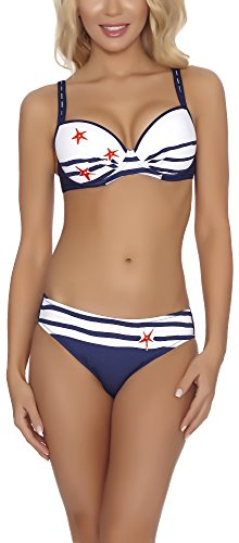 blu Scuro Modellante Blanc Feba Bikini Push Set D1n32l1v2rs4 Up Corpo UpxqFa