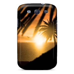 Sanp On Case Cover Protector For Galaxy S3 (sunset Nature Silhouette Palm Trees)