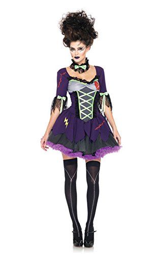 [Mememall Fashion Gothic Frankie's Bride Frankenstein Women Adult Costume] (Lil Frankies Bride Costumes)