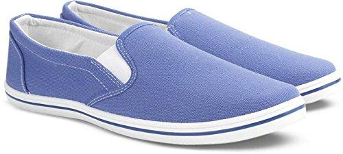 807af556e9d Flying Machine Men s Blue Canvas Loafers - 11 UK  Buy Online at Low ...