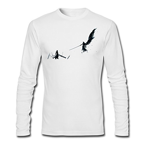 ZHENGAIMEI Men Final Fantasy Long Sleeve Organic Cotton T Shirt (Final Fantasy Tactics Advance Ost compare prices)