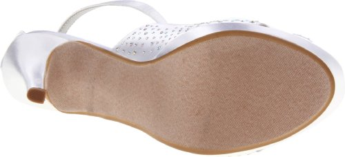 Dyeables Vrouwen Sonya Platform Sandaal Wit Satijn