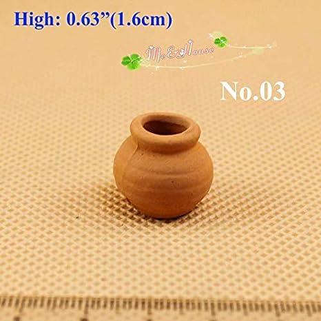 1:12 Dollhouse Miniature Ceramic Vase//Jar B155 B156