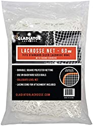 6mm Heavy Duty Replacement Lacrosse Goal Net (Round Corners) 6'x6x6'' for Backyard Goals - Gladiat