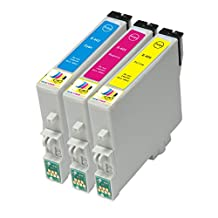 Ink & Toner Geek ® - 3 Pack Remanufactured Replacement Inkjet Cartridges for Epson T060 60 #60 (T060220, T060320, T060420) For Use With Epson Stylus C68 Stylus C88 Stylus C88Plus Stylus CX3800 Stylus CX3810 Stylus CX4200 Stylus CX4800
