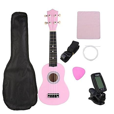 ERCZYO Instrumento musical de ukelele Uke económico soprano de 21 pulgadas con bolsa de concierto Sintonizador de cuerdas ERCZYO: Amazon.es: Instrumentos ...