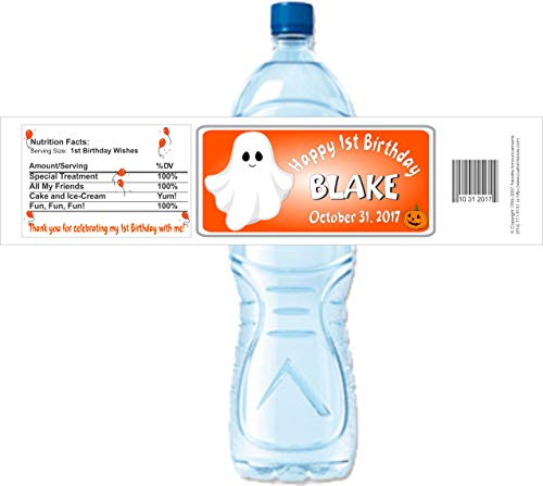 Halloween Water Bottle Labels (set of