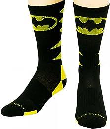Batman Performance Crew Socks Shoe Size 8-12