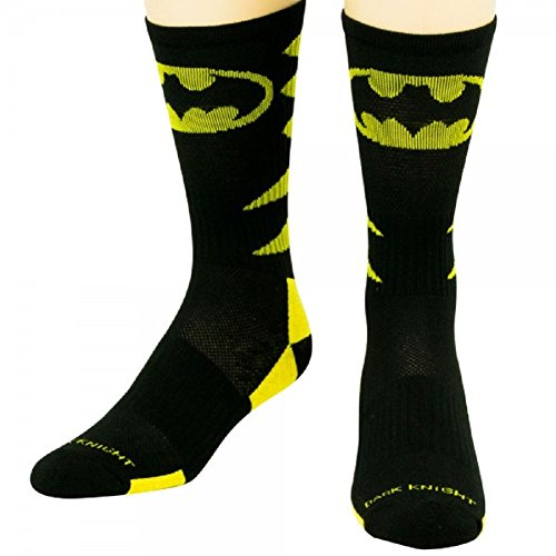 Batman Athletic Shoe (DC Comics Batman Performance Crew Socks, Shoe Size 8-12)