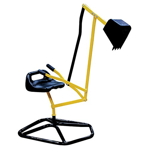 (Ride On Crane Digger- Mechanical Digging Metal Outdoor Toy- Swing and Grab Function, Rotates)