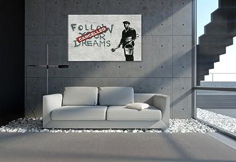Visario Cuadros en Lienzo Banksy 80 x 60 cm Nr. 4167 cuadro abstracto