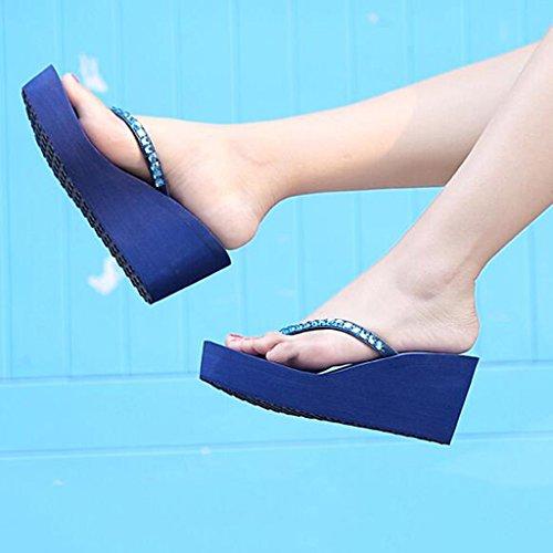 Sohle Schuhe Eva Schwarz Starke Clip Strass Hang Sommer Ferse Hausschuhe Heels Sandalen Mode Zeh High Frau Gummischicht qZPwgWU4